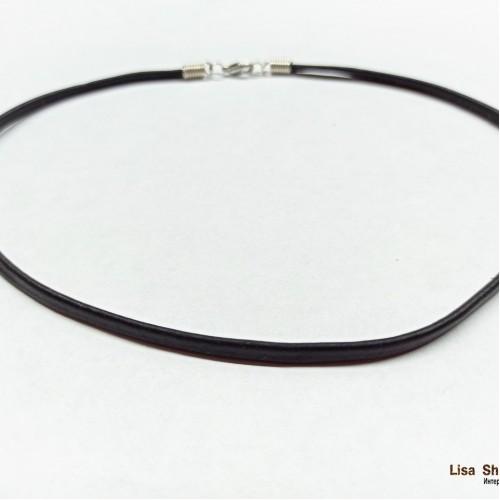 Кожаный чокер плоский 4 мм