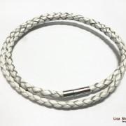 Кожаный шнурок для крестика белый